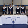 <p>Jesuit president Fr. Richard C. Hermes, S.J. and principal Barry Neuburger welcomed 82 members of the Class of 2018 into the National Honor Society at the NHS Induction Mass on Feb. 22 in the Jesuit gymnasium.</p>