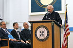 <p>Jesuit High School held a special Convocation on Aug. 14, 2017 commemorating the 70th anniversary of Fr. Francis Brou, S.J. entering the Society of Jesus, followed by a reception in the President's Board Room.</p>