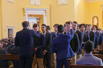 <p>Fr. Jay Hooks, S.J. celebrated all-school Mass on the first day of Lent, March 6, 2019.</p>