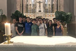 <p>Ten Jesuit students and chaperones Dr. Cristina Delano, Dr. Angelo Pastore, and Allison Zilka took a service immersion mission trip to Bogotá and Cartagena for nine days in July to work together with Colombian youth leaders on educational, environmental, and social justice initiatives. It was the second straight year a Jesuit mission trip contingent traveled to Colombia. They visited schools, youth centers, and nature preserves, and participated in educational workshops, environmental awareness campaigns, and a mangrove cleanup with their Colombian partners. They also explored Colombia's rich cultural and religious traditions, including the Sanctuary of Saint Peter Claver, the Jesuit missionary.</p>