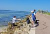 <p>Twenty two members of Jesuit's Environmental Club, plus another 16 volunteers including teachers and family, participated in cleaning up the shorelines of the Courtney Campbell Causeway on Sunday, September 6 as part of a Keep Tampa Bay Beautiful project.</p>