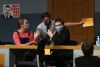 """<p>The Jesuit Masque performed """"12 INCOMPETENT JURORS"""" on Dec. 3-4, 2020 in the MPR to a live stream audience. Photos are from opening night, Dec. 3.</p>"""