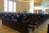 <p>Half of the Jesuit student body gathered in the Chapel of the Holy Cross the morning of January 21 for Mass, as Fr. Angel Rivera-Fals, S.J. celebrated the feast day of St. Agnes of Rome. The remainder of the student body will celebrate Mass on January 22.</p>
