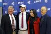 <p>Four student-athletes at Jesuit High School signed with the college of their choice at a special ceremony on Feb. 3, 2021: Bradke Lohry (baseball, Wabash Valley), Nick Parisi (golf, Elmhurst Univ.), Nick Shaffer (swimming, Florida Atlantic), and Ryan Weir (basketball, Aquinas College). This was the third of four signing ceremonies annually at the school. </p>